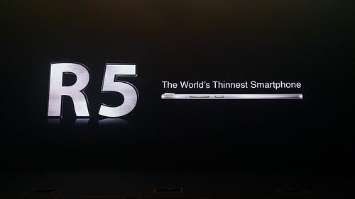 Oppo R5 เป็นสมาร์ทโฟนที่บางที่สุดในโลกตอนนี้