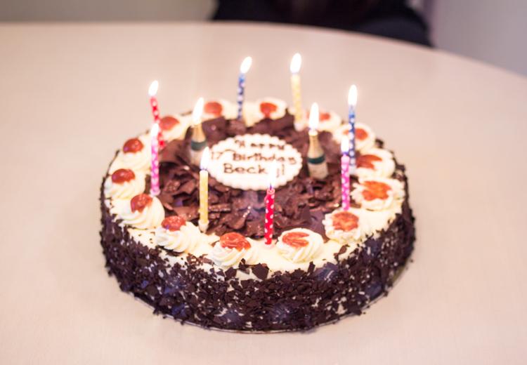 birthday cake 17th