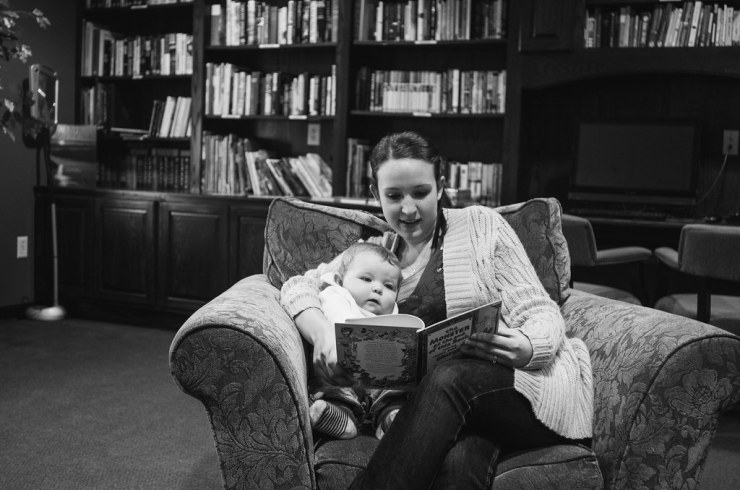 Mommy and Ezra Book Time