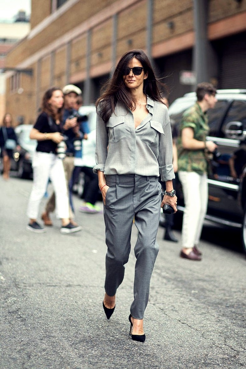 grey on grey look