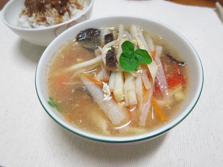 蔬食酸辣湯