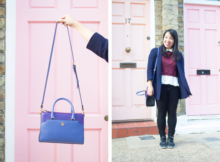 Pink doors MCM outfit collage