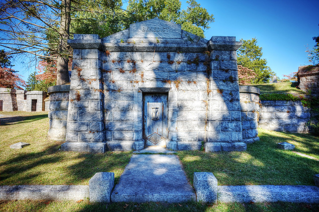Crypt at Sleepy Hollow Cemetery.