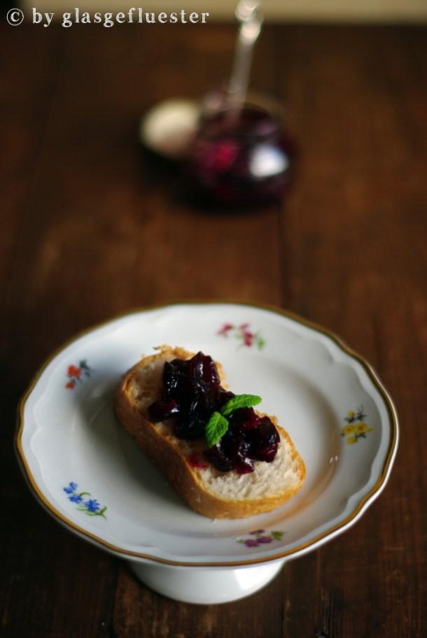 Trauben Minz Cranberry Marmelade by Glasgeflüster 2 klein