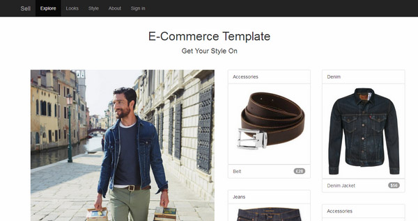 E Commerce Responsive Bootstrap Template V1.3
