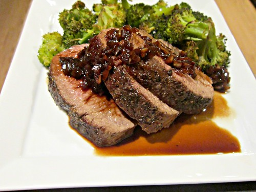 Venison Backstrap with Red Wine Sauce