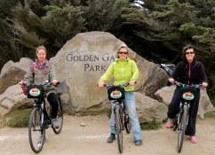 Promenade en velo dans le parc du Golden Gate Visite en francais de la prison d'Alcatraz lors de la visite privée de San Francisco avec www.frenchescapade.com