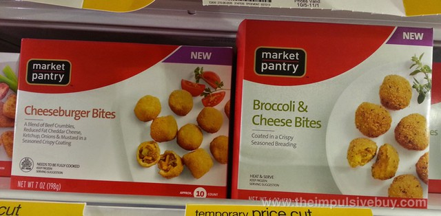 Market Pantry Cheeseburger Bites and Broccoli & Cheese Bites