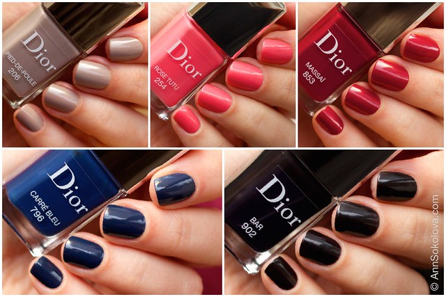 Dior Vernis Fall Collection 2014 swatches