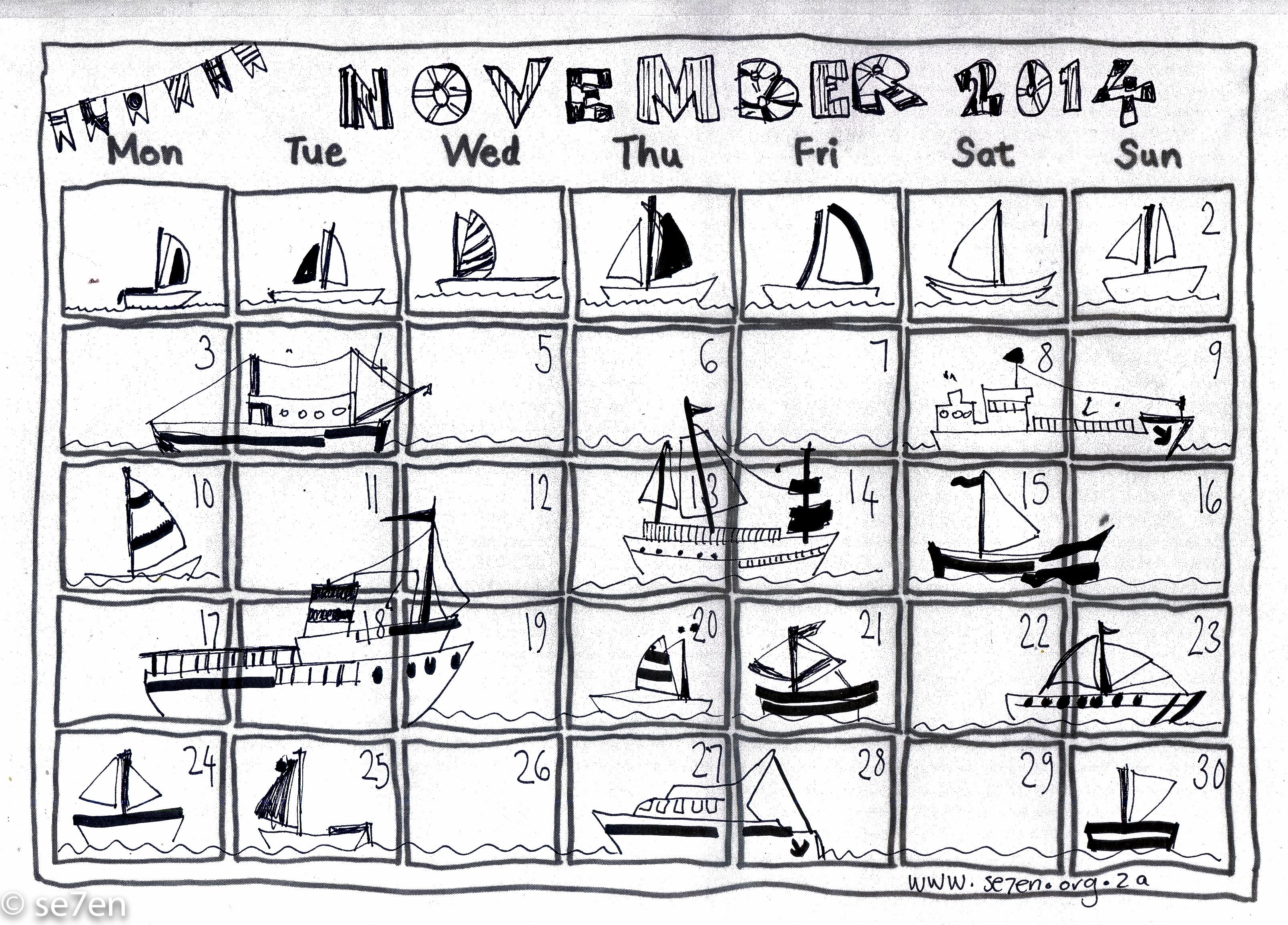 Se7en S November And Your Free Printable Calendar Se7en