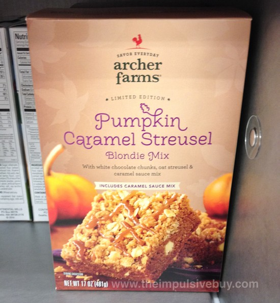 Archer Farms Limited Edition Pumpkin Caramel Streusel Blondie Mix