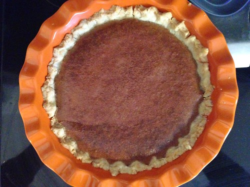 beautiful chocolate chess pie