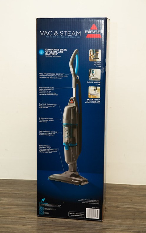 吸地拖地一次搞定!美國 Bissell VAC&STEAM 二合一吸塵蒸氣清潔器開箱評測 @3C 達人廖阿輝