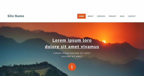 SiteName – Free Flat Bootstrap Responsive web template