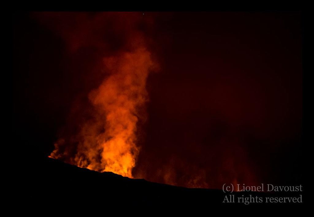 Piton de la Fournaise erupting