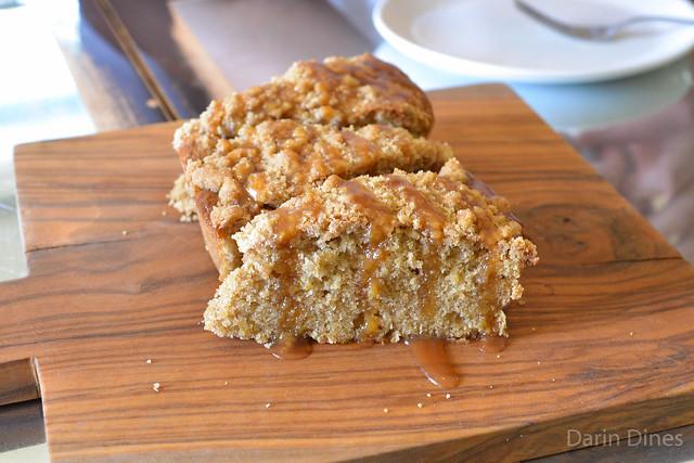 Apple Crumb Cake caramel sauce