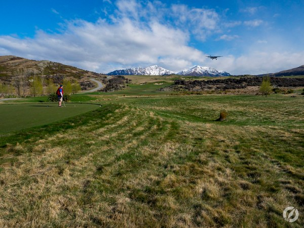 Tee Off with Landing Plane, Jack's Point, Queenstown