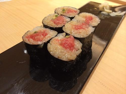 中トロ巻き@魚こう鮨 西荻窪店