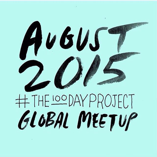 Hello from #The100DayProject #GlobalMeetup in Vancouver, BC