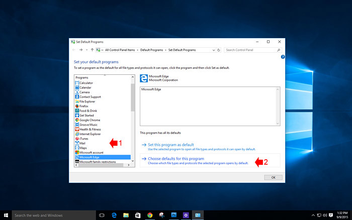 How to customize default app in Windows 10-9