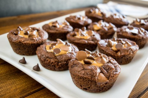 chocolate peanut butter brownie cups