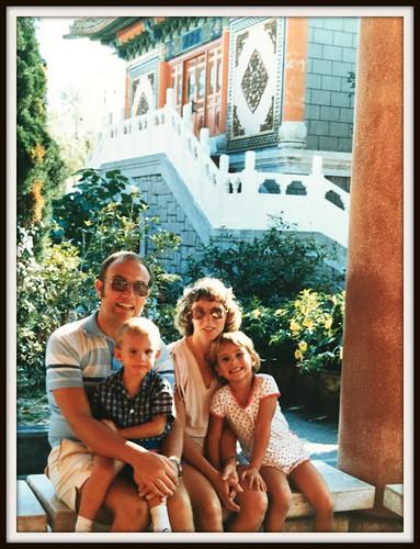 Tourist village family - the tin box traveller