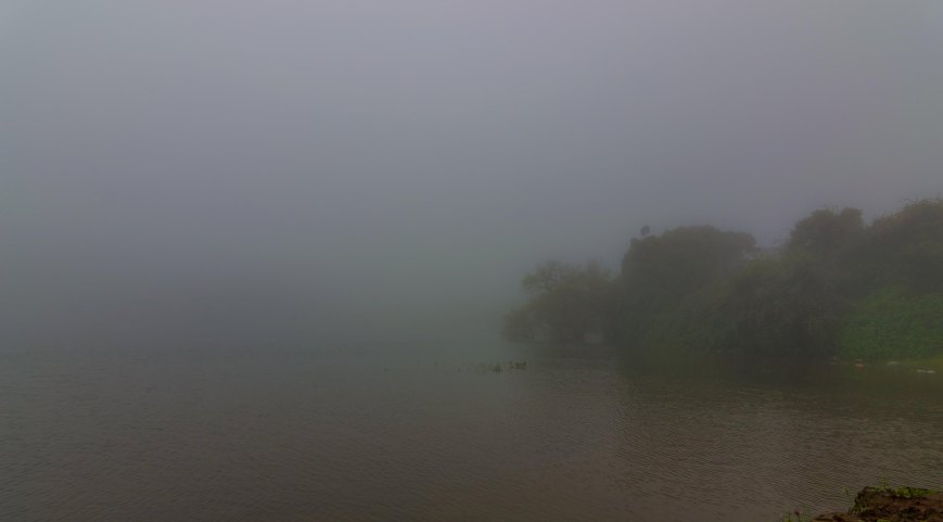 A lake on the way to Manikyadhara falls - Chikmagalur