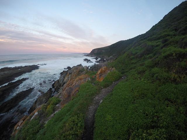 hike along beach morning 3 otter trail on gopro