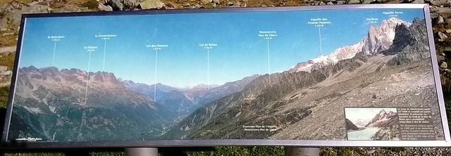 map of summits chamonix valley
