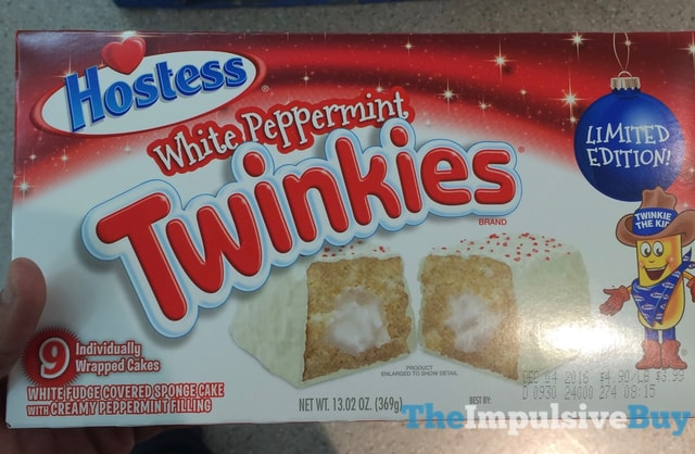 Hostess Limited Edition White Peppermint Twinkies