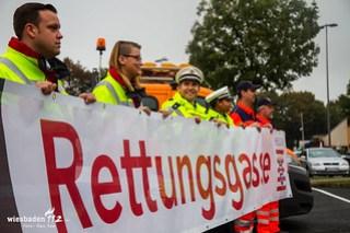 Vorstellung Rettungsgassenbanner Land Hessen