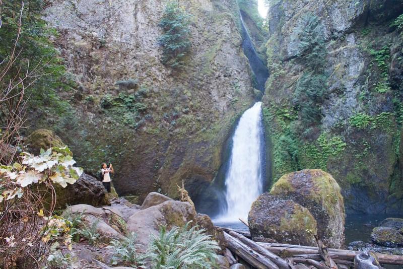 Wahclella upper falls