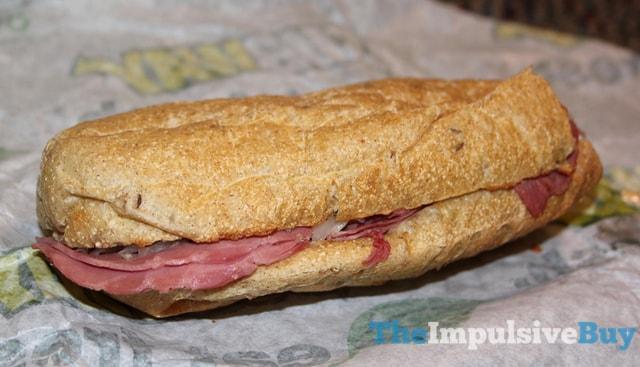 Subway Corned Beef Reuben Sandwich