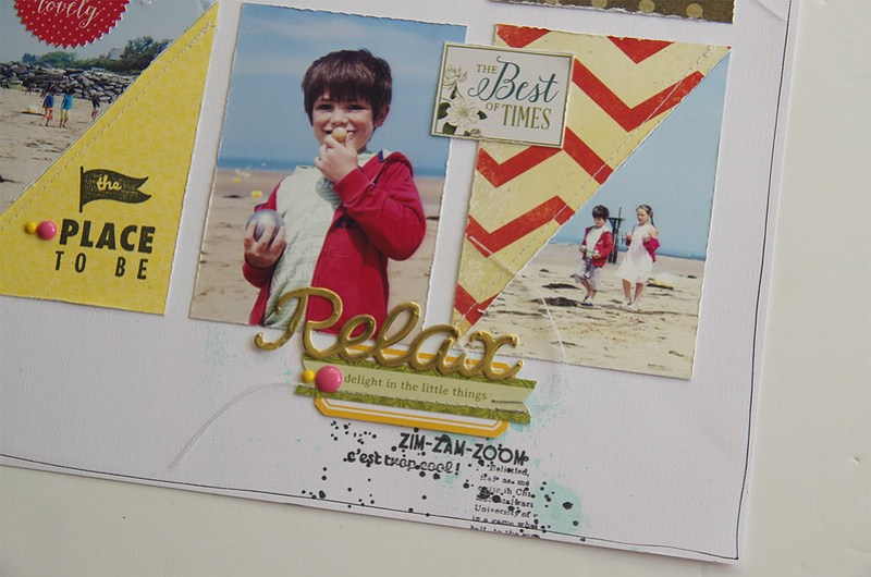 Relax page scrapbooking MarieNicolas ALLIOT