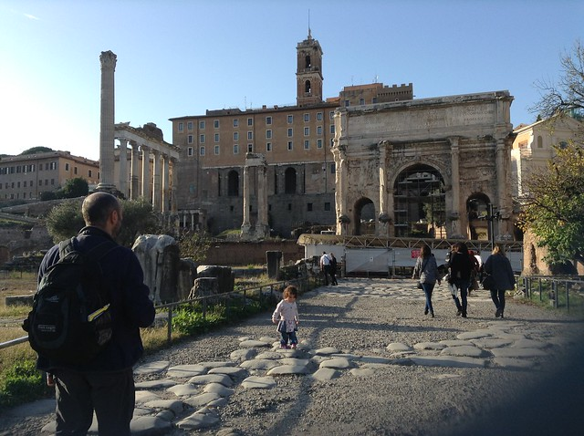 Roman forum with kids