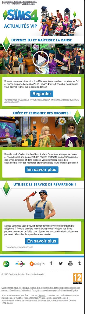 Newsletter Sims 4 - Nov 2015