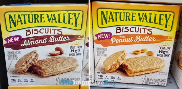 Nature Valley Biscuits with Almond Butter and with Peanut Butter