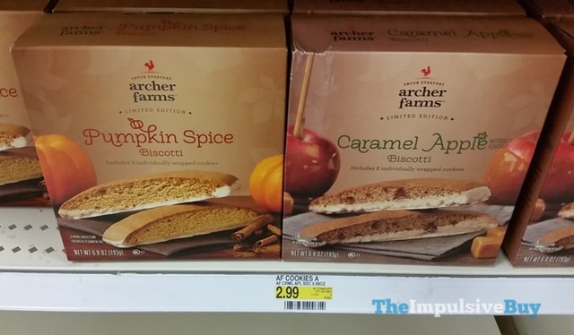 Archer Farms Limited Edition Pumpkin Spice and Caramel Apple Biscotti