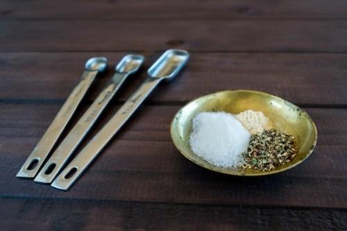 salt, pepper, and garlic powder