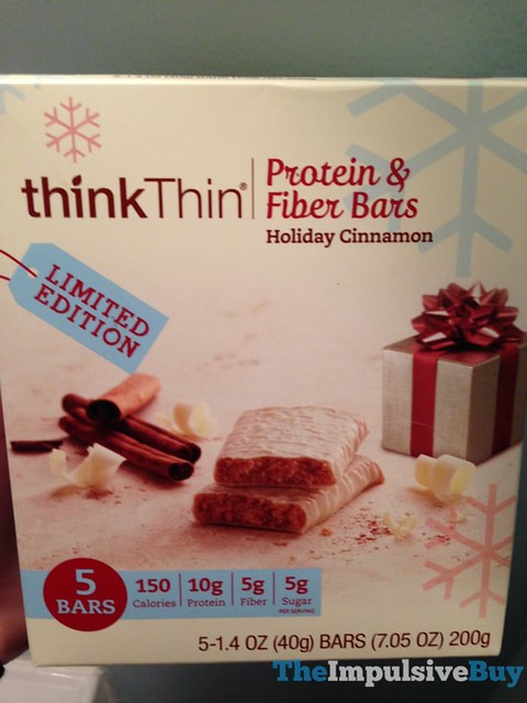 thinkThin Limited Edition Holiday Cinnamon Protein & Fiber Bars