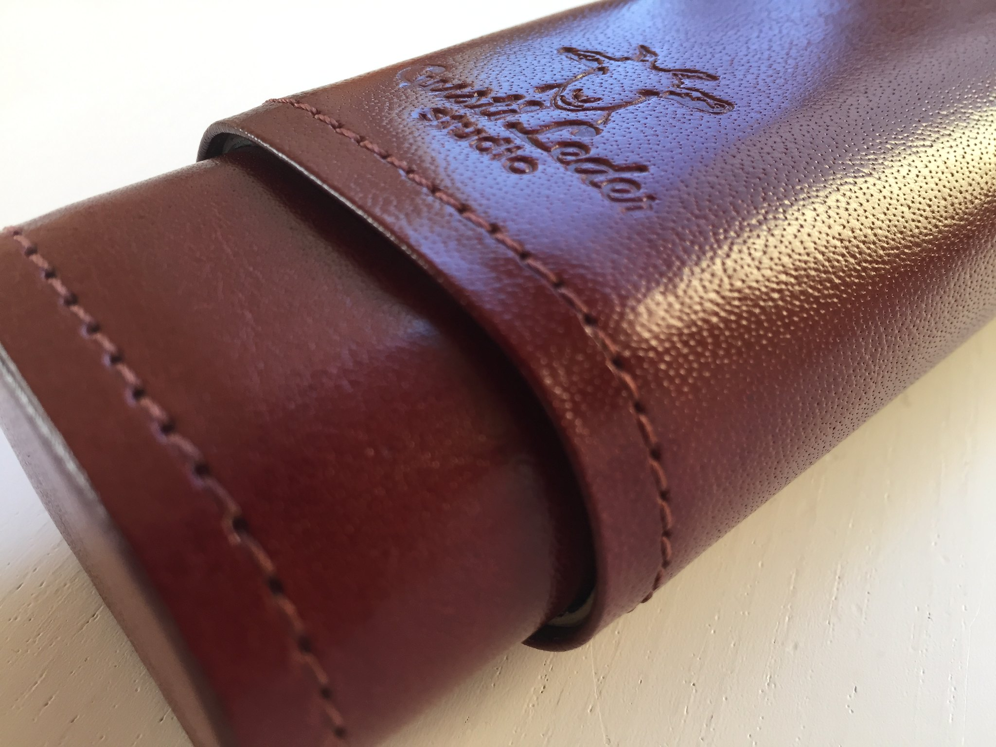 Vintage Leather Pencil Case (Gusti Leather)