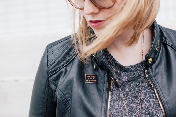 asymmetrical sweater leather jacket8