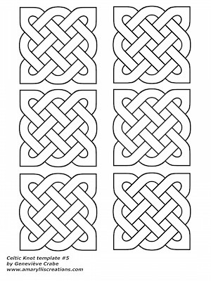 Celtic knot template 5 - shading worksheet