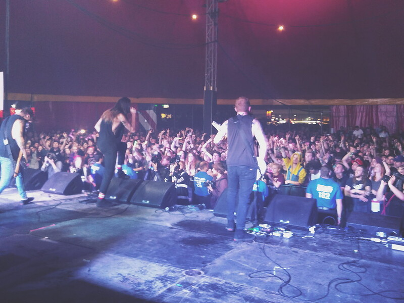 While She Sleeps at The Pit stage, Reading Festival