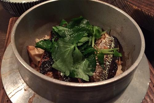 秋刀魚の釜飯
