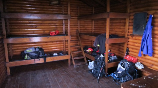 inside hut otter trail