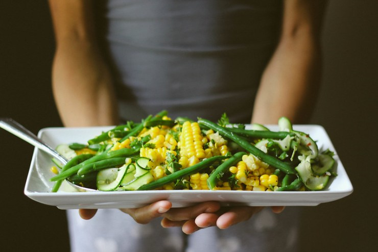 Zucchini, Corn and Green Bean Salad