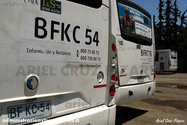 Transantiago - Metbus / Buses Metropolitana - Caio Mondego H / Mercedes Benz (BFKC54)