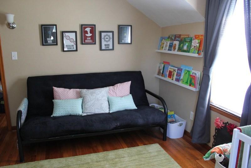 Reading/futon area