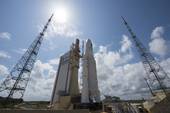 Ariane 5 flight VA233 on launch pad